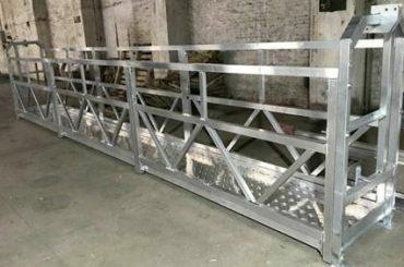 بیرونی دیوار کی صفائی کے لئے Zlp800 سٹیل کام کرنے کے پلیٹ فارم 380v 3 مراحل معطل